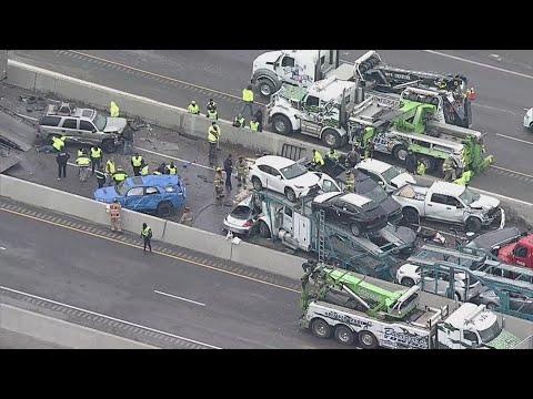 RAW: Aerial footage of deadl...
